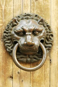 Free Ancient Knocker Royalty Free Stock Photography - 4581527