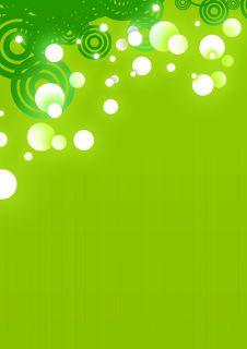 Glowing Green Circle Background Royalty Free Stock Image