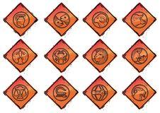 Free Vector Zodiac Collection (Grunge Set 2) Stock Photos - 4582443