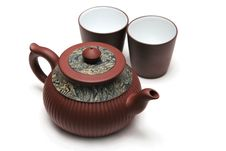 Japan Teapot With Two Cups Stock Image