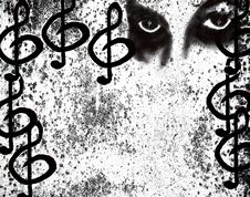Free Music Grunge Poster Royalty Free Stock Images - 4583269
