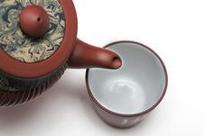 Free Japan Teapot With A Cup Royalty Free Stock Image - 4583406