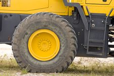 The Rolling End Of A Front-end Loader Royalty Free Stock Photography