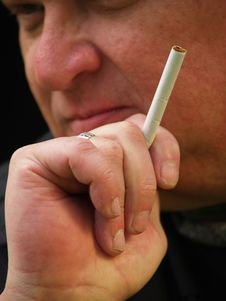 Free Close Up Of A Cigarette Royalty Free Stock Photos - 4584378