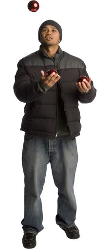 Free Juggling Red Balls Stock Images - 4586084