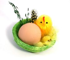 Free Easter Egg And Chickens Royalty Free Stock Photos - 4586128
