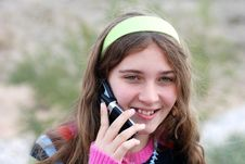 Free Young Girl And Cellphone Royalty Free Stock Photos - 4586218