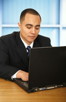 Free Business Man Working On Laptop 2 Stock Photo - 4587040