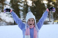 Free Girl In Winter Stock Images - 4587894