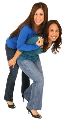 Free Sister Piggyback Sister Royalty Free Stock Photography - 4587897