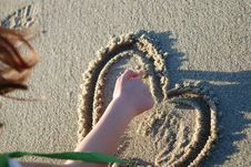 Free Heart On The Beach Royalty Free Stock Photography - 4587917