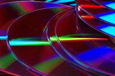 Pile Of DVD Disks. Stock Photo