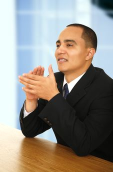 Free Young Business Man Clapping Hand Stock Photo - 4587990