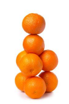 Pyramid From Tangerines Royalty Free Stock Photos