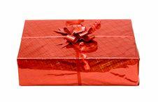Free Red Celebratory Gift Box Isolated Royalty Free Stock Photo - 4588365