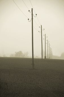 Free Powerline In The Mist Stock Photos - 4588463