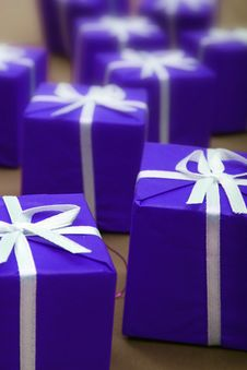 Free Gifts In Blue Paper Royalty Free Stock Photo - 4588805
