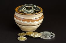Free Silver Coins Stock Photography - 4589162