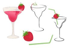 Free Cocktail With Strawberry Stock Photos - 4589333