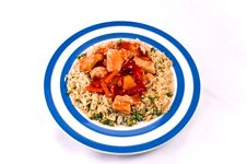 Sweet And Sour Chicken.on A White Background. Stock Images