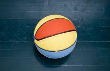 Free Basketball Ball On Wood Floor Stock Images - 4589974