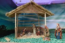 Free Birth Of Jesus Christ Decoration,  Ahmedabad Royalty Free Stock Photography - 45864047