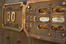 Free Old Train Signs Royalty Free Stock Photos - 45875818
