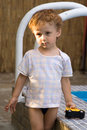 Free Curly Boy At A Pool (11) Royalty Free Stock Image - 4590806