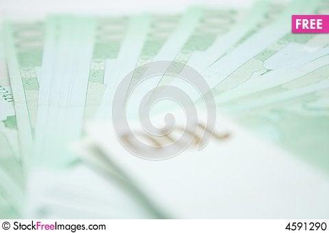 Free 100 Euros Banknotes Stock Photo - 4591290