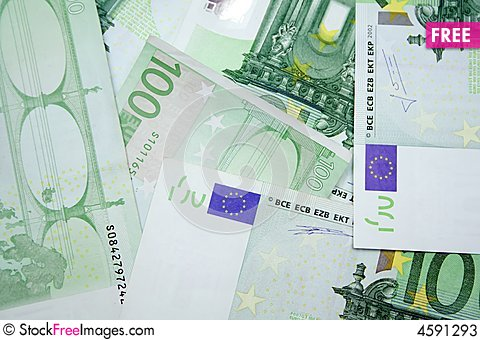 Free 100 Euros Stock Photos - 4591293