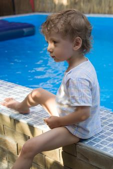 Free Curly Boy At A Pool (03) Stock Photo - 4590690