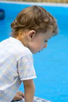 Free Curly Boy At A Pool (05) Stock Photos - 4590743