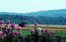 Harvestingthe Fields Stock Images