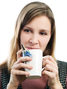 Free Girl With Cup Stock Photos - 4590983