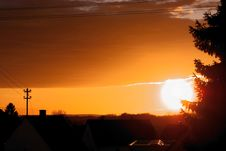 Free Sunset Over Little Village Royalty Free Stock Images - 4590999