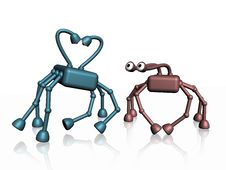 Free Robots Love Stock Image - 4591491