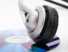 Headphones And Cd Royalty Free Stock Image