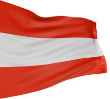Free 3D Austrian Flag Royalty Free Stock Photography - 4592047