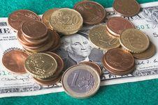 Dollar S Slump Royalty Free Stock Photography