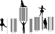 Free Silhouette Of People On Barcode Royalty Free Stock Photo - 4592615