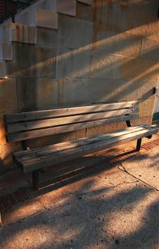Free Wooden Benvh In Moring Sun Royalty Free Stock Image - 4592656