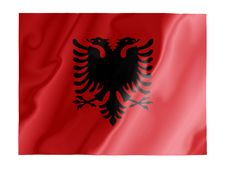 Free Albania Fluttering Royalty Free Stock Image - 4593046