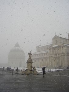 Free Pisa Surrounded By Snow Stock Image - 4593651