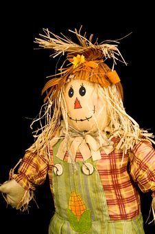Free Scarecrow On Black Stock Image - 4593671