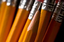 A Pencil Background Stock Photo