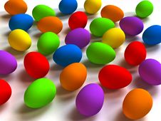 Free Easter Colored Eggs Royalty Free Stock Photos - 4593928