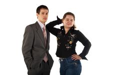 Free Young Businessman And Girl Royalty Free Stock Images - 4594339