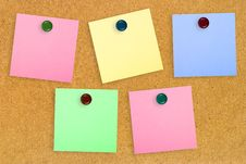 Colorful Note Paper Royalty Free Stock Photo