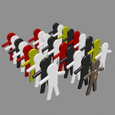 Conceptual Image Of Teamwork - 2. Royalty Free Stock Photo
