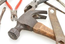 Free Vintage Hammer And Tools Royalty Free Stock Photo - 4594885